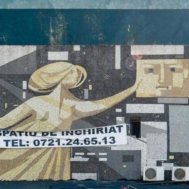 """""""Arta cinematografică"""", mozaic, Cinemascop Țiglina, parte a centrului comercial Țiglina"""