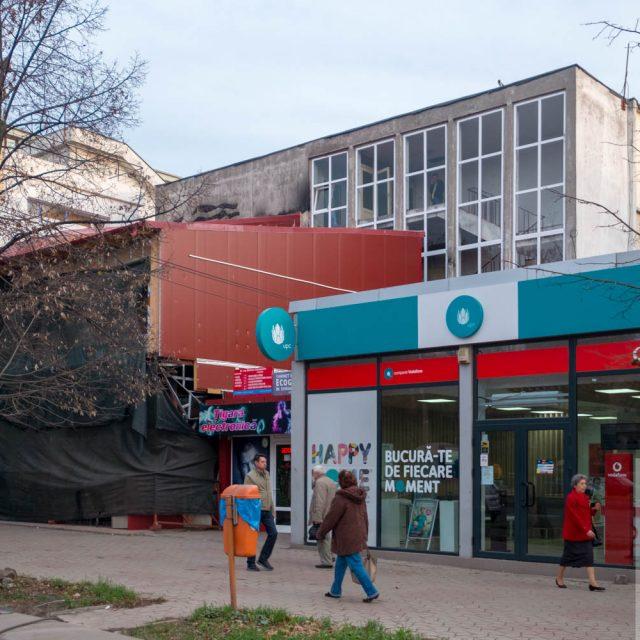 """""""Plante, Soare, Peşti"""", mozaic pe fațada laterală a blocului A2"""